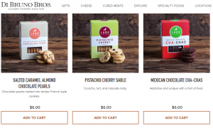 e-commerce food shop example