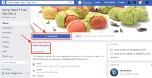 FB food group example