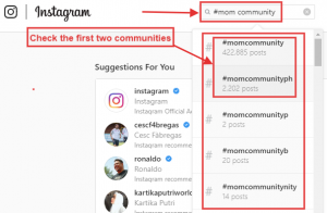 How to find community on Instagram