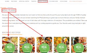 Meal plan service example