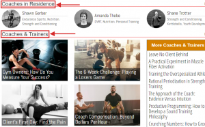 Coaches & Trainers example