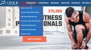 Membership portal example