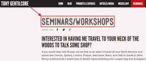 Seminar & Workshop example