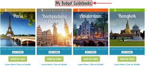 example of travel guidebook