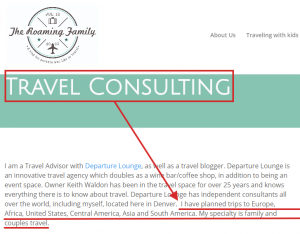example of travel services