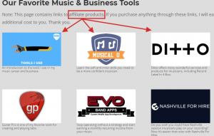 Affiliate products - Music