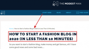 Consulting for blog set up example