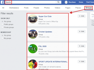 Facebook Sports Group
