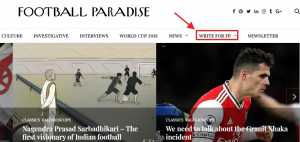 Freelancing for Sports Website example