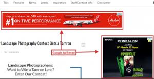Google AdSense example