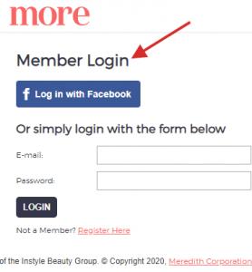 Membership Area example