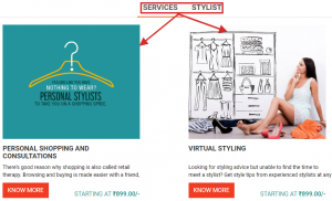 Fashion Services example