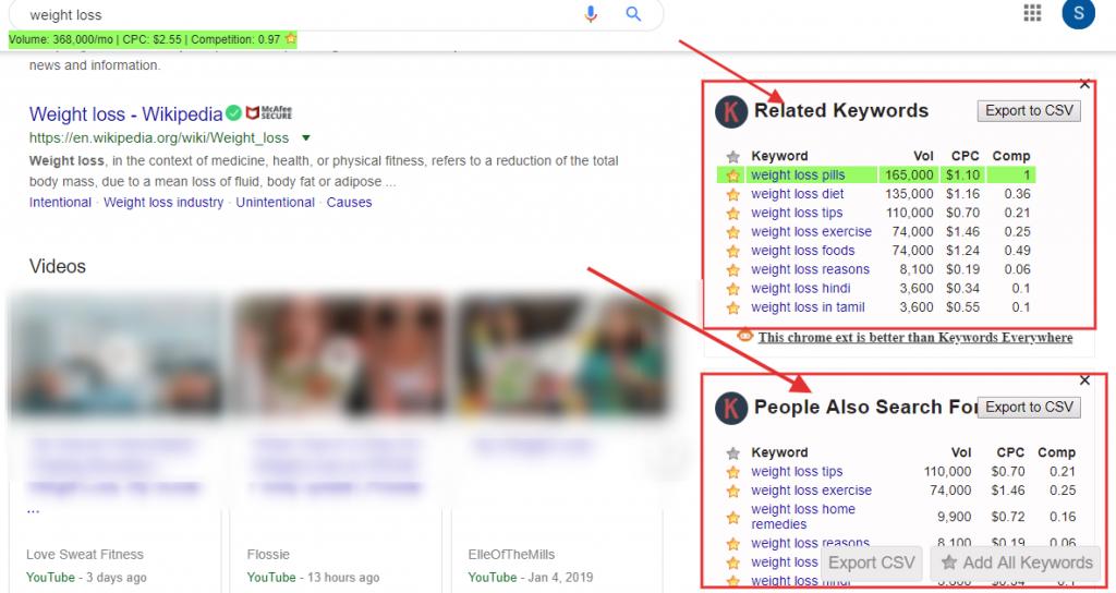 Keywords Everywhere  tool data on google